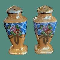 Lusterware Porcelain Salt and Pepper Shakers