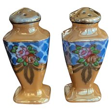 Lusterware Porcelain Salt and Pepper Shakers