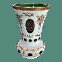 Bohemia Czechoslovakia Art Glass Vase