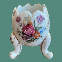 Cracked Egg Vase Fine Quality A Floral Pattern