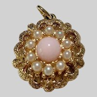 """1973 """"Angel Pink"""" Sarah Coventry Necklace Pendant"""