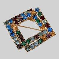 Interlocking Dimensional Rhinestone Pin