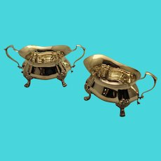 Georgian by Poole Sterling Silver Sugar and Creamer Set