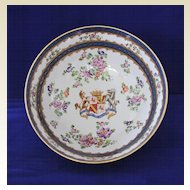 "French,""Campagnie des Indes"" Armorial Bowl, circa1873"