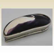 Rare!   Antique English, Silver Cowrie Shell Snuff Box