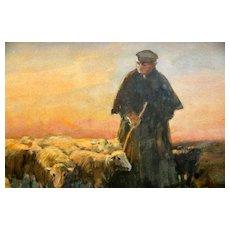 Dutch 1856- 1928, Willem Steelink  II Watercolor