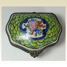 Antique French, Edme et Cie Samson Porcelain Casket circa 1870