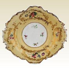 Antique Copeland Barret Spodes Porcelain Footed Serving Dish circa 1835