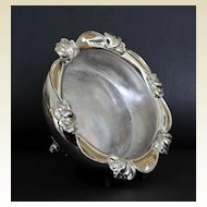 Antique Silver Plate  Repousse Sweetheart or Rose Bowl, 19th century
