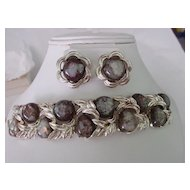 Confetti Easter Egg Cabochon Bracelet & Earring Demi Parure