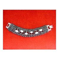 Black & White Rhinestone Bracelet