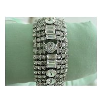 Weiss RS Crystal Wide Bracelet