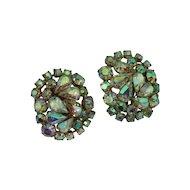 Aurora Borealis Rhinestone Crystal Earrings II