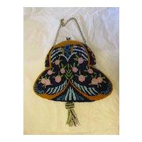 Antique Large Micro Bead Art Nouveau Purse