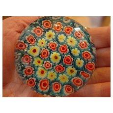 Flower Power Millefiori Paperweight