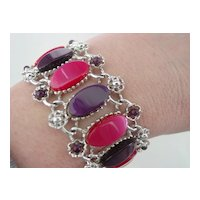 Pink and Purple Wide Bracelet