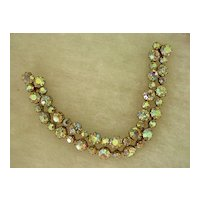 Weiss  Rhinestone Bracelet of Aurora Borealis Sparkling RS