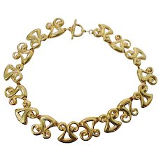 Accessory Lady Abstract Chain Design Choker Necklace