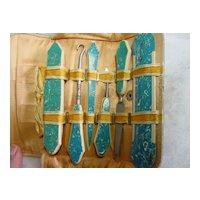 Bakelite Handles 7 Piece Manicure  Set