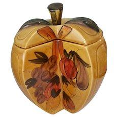 Los Angeles Ceramics Large Harvest Gold Apple Cookie Jar C 1964 Cali USA