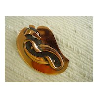 Copper Black Finish Large Abstract Pin