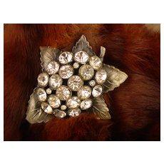 Rhinestone Crystal Dress Clip Fur Clip