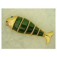 Large Bendable  Fish Pendant