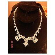 Vintage Festoon Rhinestone Necklace By Gale