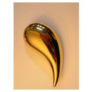 Huge Givenchy Tear Drop Pin Brooch