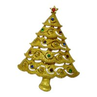 JJ Joanette Jewelry Christmas Tree Pin