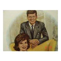 President and Mrs. John F  Kennedy Portrait Plate