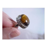 Vintage Sterling Silver Tiger Eye Ring