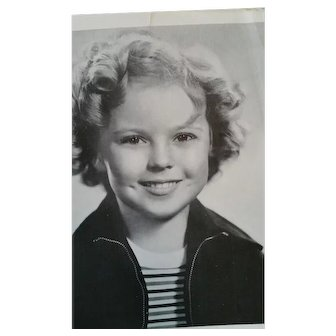 "Shirley Temple Original Movie Publicity Portrait Photo for 20th Century Fox ""Captain January"""