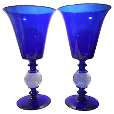 "Pairpoint Cobalt Blue 11-3/4"" Vase (B-1083)"