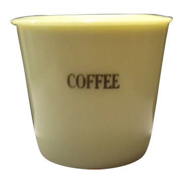 "McKee ""Seville"" Yellow Coffee Canister"