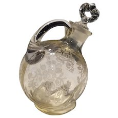 Cambridge Gold Krystol Yellow Apple Blossom 2 Ounce Cruet