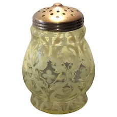 Northwood Canary Opalescent Spanish Lace Sugar Shaker