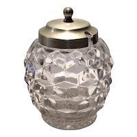 Fostoria Crystal American Honey Jar & Cover