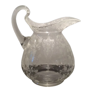 Cambridge Crystal Rose Point #3400/152 Doulton Jug