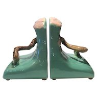 Roseville Jade Green Ming Tree #559 Bookends (2)