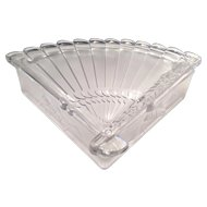 Imperial Satin Crystal Cathay #5022 Fan Sweetmeat Covered Box