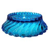 "Fostoria Blue Queen Anne (Colony) #2412 - 11"" Centerpiece Bowl"
