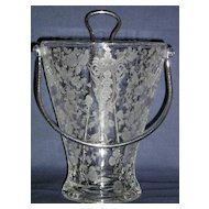 Cambridge Rosepoint Pristine Handled Ice Bucket with Tongs