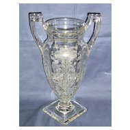 Tiffin Glass Flanders footed # 15144 Trophy Vase