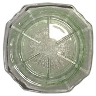 Hocking Glass Green Princess Pattern 8-Sided Coaster