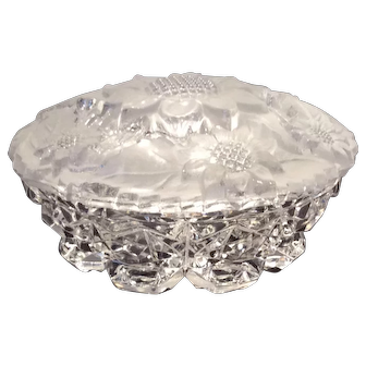 Imperial Crystal Sunflower Pattern E-101 Powder Jar & Cover