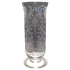 Duncan & Miller Crystal First Love Etched Vase