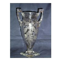 Tiffin Fuchsia Trophy Vase