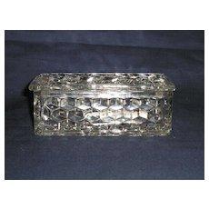Fostoria American Jewel Box w/ Lid 'as is'