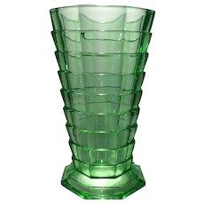 "Indiana Green Tea Room Pattern 10.5"" (H) Vase"